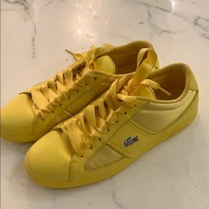 Lacoste Satin Yellow Sneakers